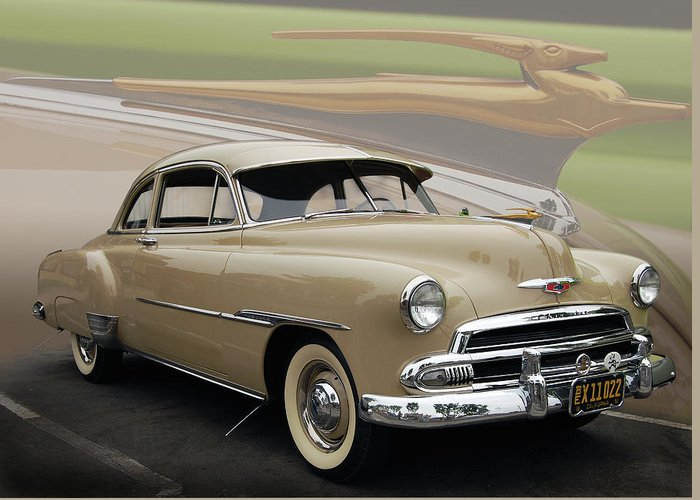 51 Greeting Card featuring the photograph 51 Chevrolet Deluxe by Bill Dutting