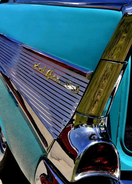 Chevy Greeting Card featuring the photograph 57 Chevy Bel Air by Lyle Huisken