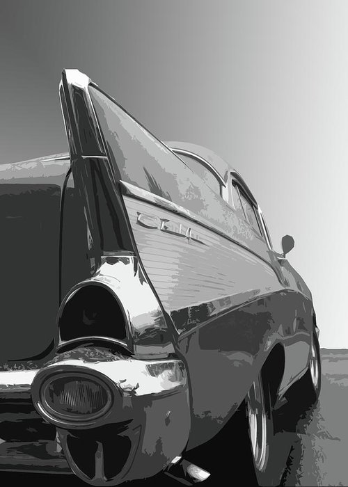 1957 Greeting Card featuring the photograph 57 Chevy Verticle by Dick Goodman