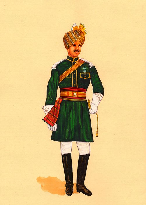 5th bengal cavalry1901 painting artwork military british indian army vintage greeting card 5th bengal cavalry1901 painting artwork military british indian army vintage greeting card featuring the painting 5th m4hsunfo