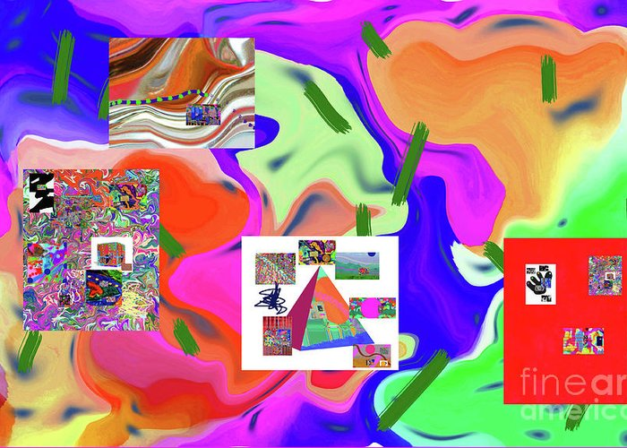 Walter Paul Bebirian Greeting Card featuring the digital art 6-19-2015dabcdefghijklmnopqrtuvwxyzabcdef by Walter Paul Bebirian