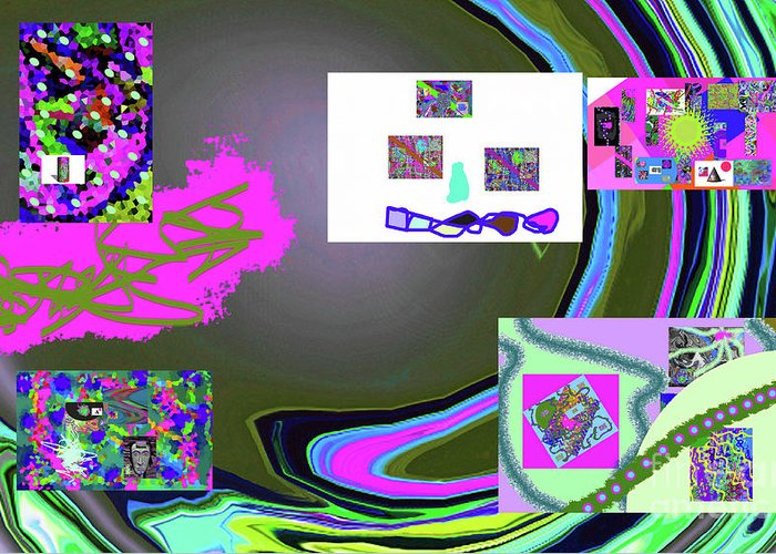 Walter Paul Bebirian Greeting Card featuring the digital art 6-3-2015babcd by Walter Paul Bebirian
