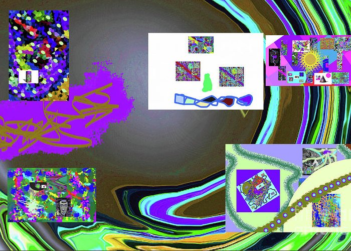 Walter Paul Bebirian Greeting Card featuring the digital art 6-3-2015babcdefg by Walter Paul Bebirian