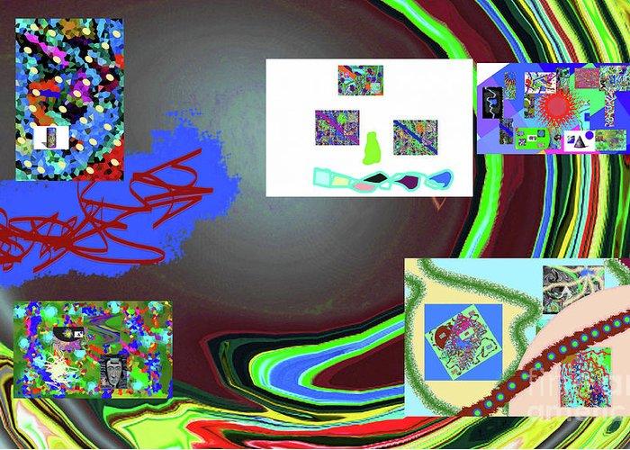 Walter Paul Bebirian Greeting Card featuring the digital art 6-3-2015babcdefghijkl by Walter Paul Bebirian