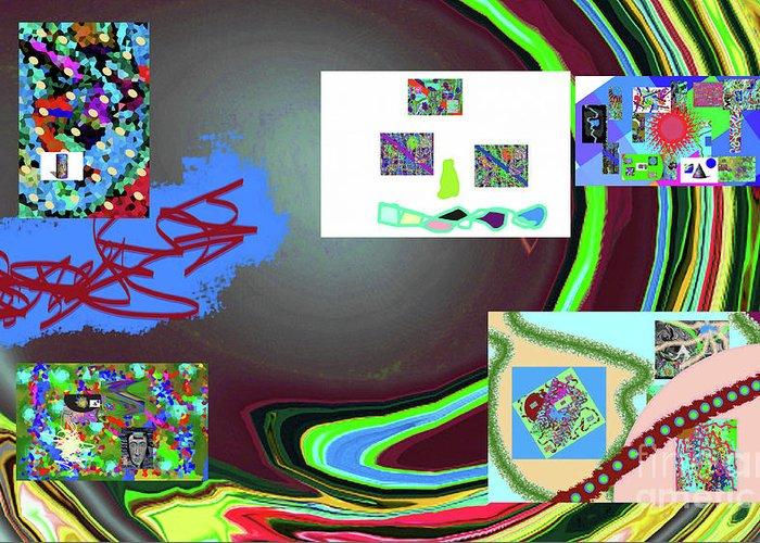 Walter Paul Bebirian Greeting Card featuring the digital art 6-3-2015babcdefghijklm by Walter Paul Bebirian
