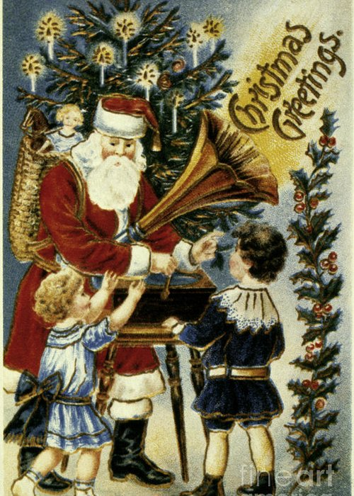 19th Century Greeting Card featuring the photograph American Christmas Card by Granger