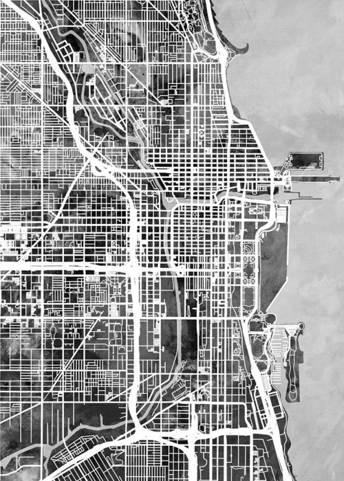 Designs Similar to Chicago City Street Map