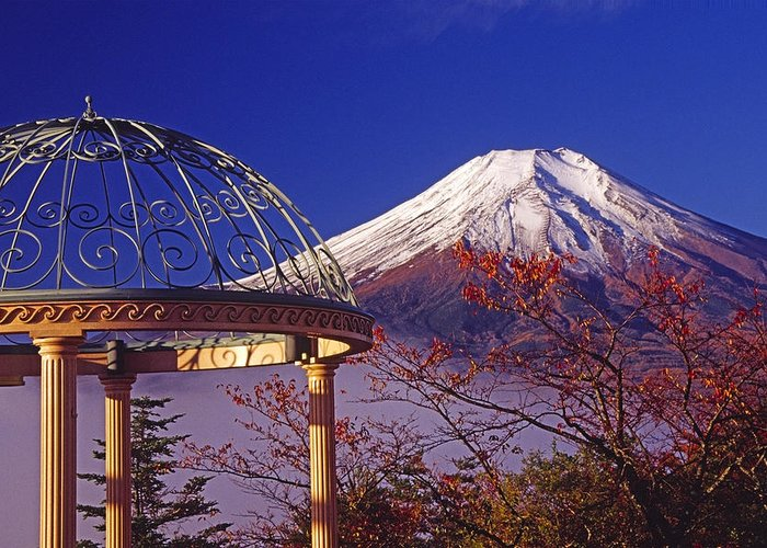 Japan Greeting Card featuring the photograph Mount Fuji In Autumn by Michele Burgess