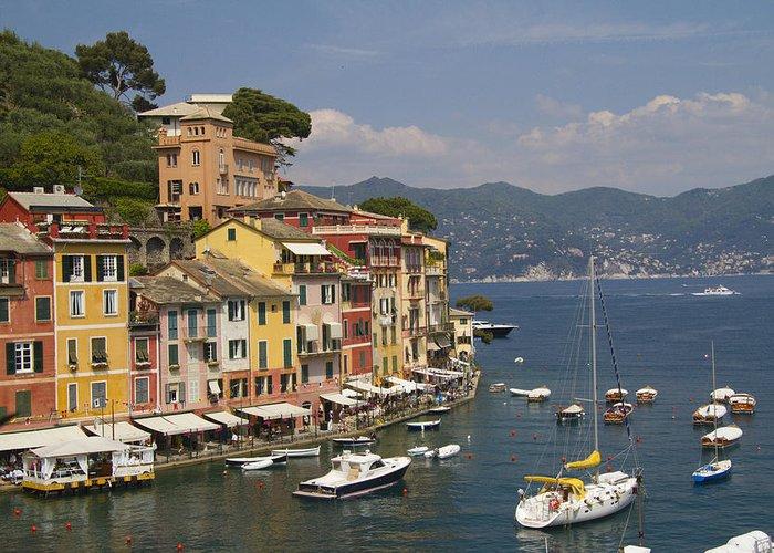 Portofino Greeting Card featuring the photograph Portofino In The Italian Riviera In Liguria Italy by David Smith