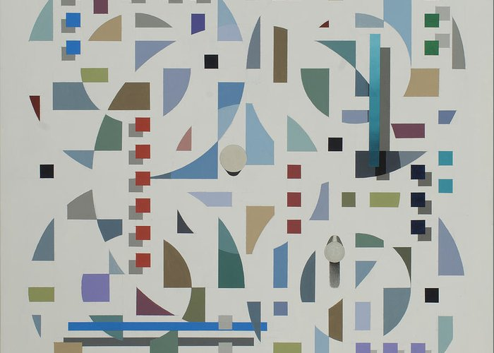 Abstract Geometirc Optical Illusion Painting Greeting Card featuring the painting Untitled 6 by Marston A Jaquis