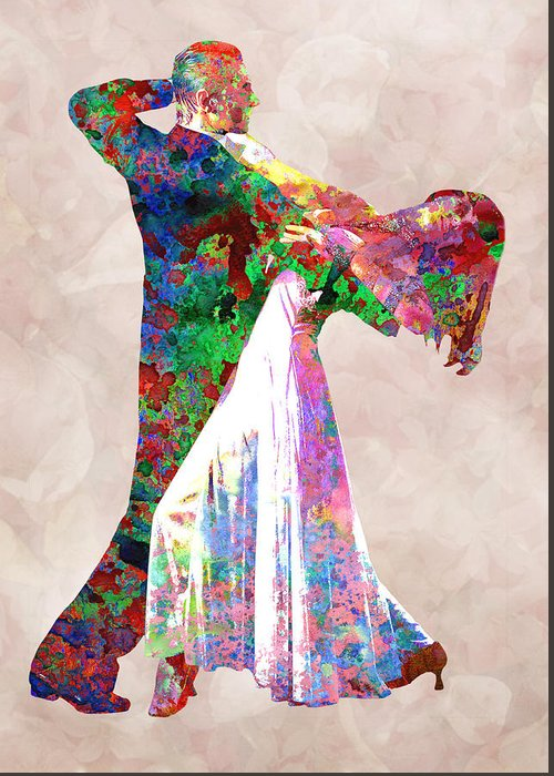 Dance Greeting Card featuring the digital art Dance by Elena Kosvincheva