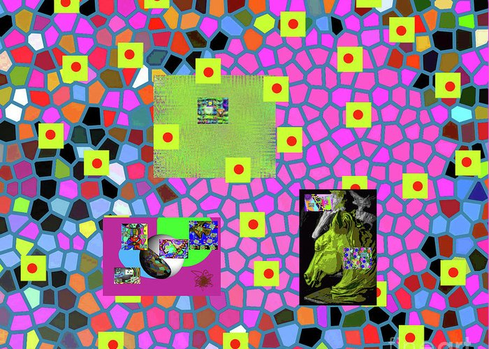 Walter Paul Bebirian Greeting Card featuring the digital art 7-20-2015cabcdefghijklmnopqrtuvwxyzabc by Walter Paul Bebirian