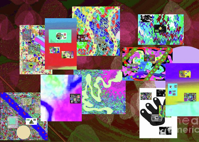 Walter Paul Bebirian Greeting Card featuring the digital art 7-5-2015dabcdef by Walter Paul Bebirian