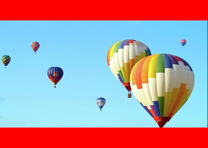 Balloons Greeting Card featuring the photograph 7 Balloons by Linda Cupps