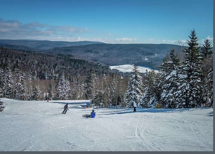 Cass Greeting Card featuring the photograph Beautiful Nature And Scenery Around Snowshoe Ski Resort In Cass by Alex Grichenko