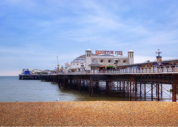 Brighton Pier Greeting Card featuring the photograph Brighton Pier by Joana Kruse