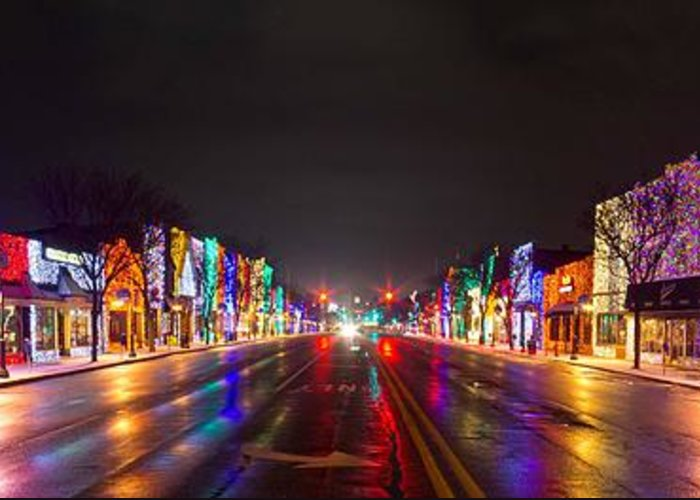 Rochester Greeting Card featuring the photograph Rochester Christmas Light Display by Twenty Two North Photography