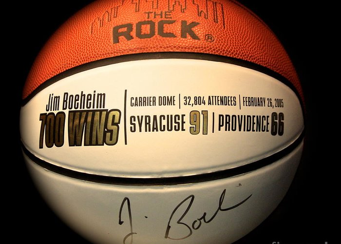 Jim Boeheim Greeting Card featuring the photograph 700 Wins by Steve Ratliff
