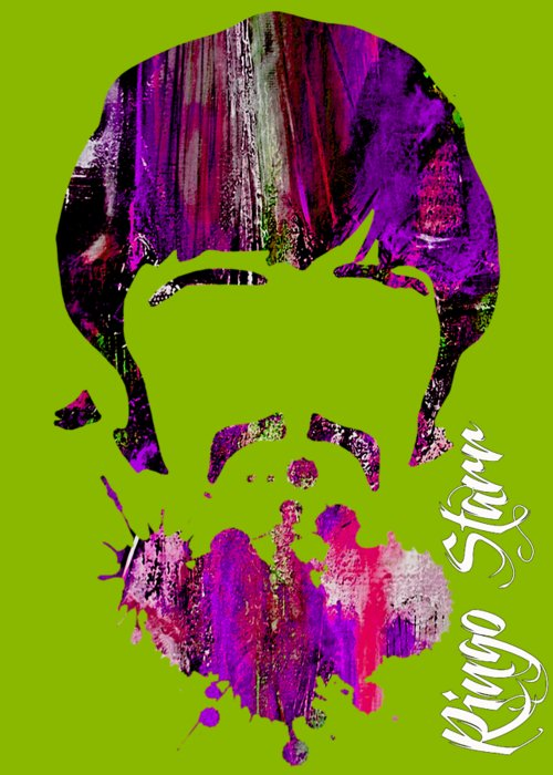 Ringo Starr Greeting Card featuring the mixed media Ringo Starr Collection by Marvin Blaine