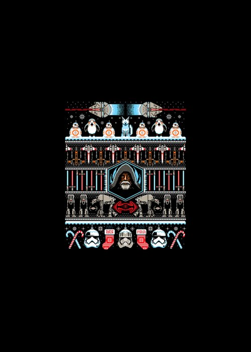 8 Bit Pixel Art Star Wars Greeting Card