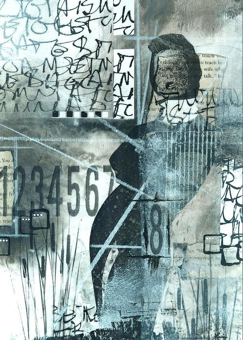 Abstract Figures Greeting Cards