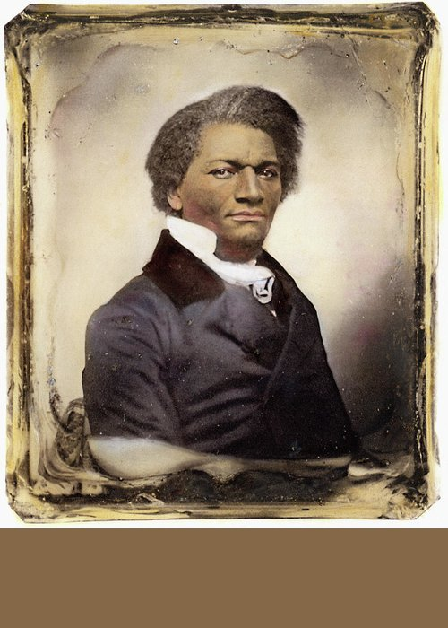 1885 Greeting Card featuring the photograph Frederick Douglass by Granger