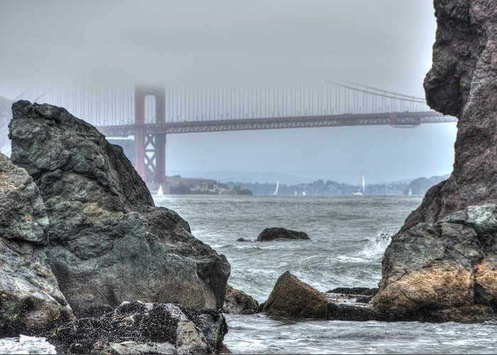 San Francisco Greeting Card featuring the photograph Golden Gate Bridge by Jayasimha Nuggehalli