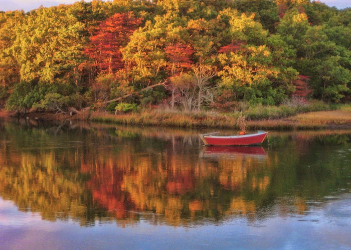 Autumn Greeting Card featuring the photograph Autumn Reflection by JAMART Photography