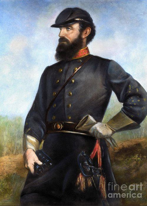1860s Greeting Card featuring the photograph Stonewall Jackson by Granger