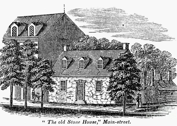 1856 Greeting Card featuring the photograph Washington: Headquarters, by Granger