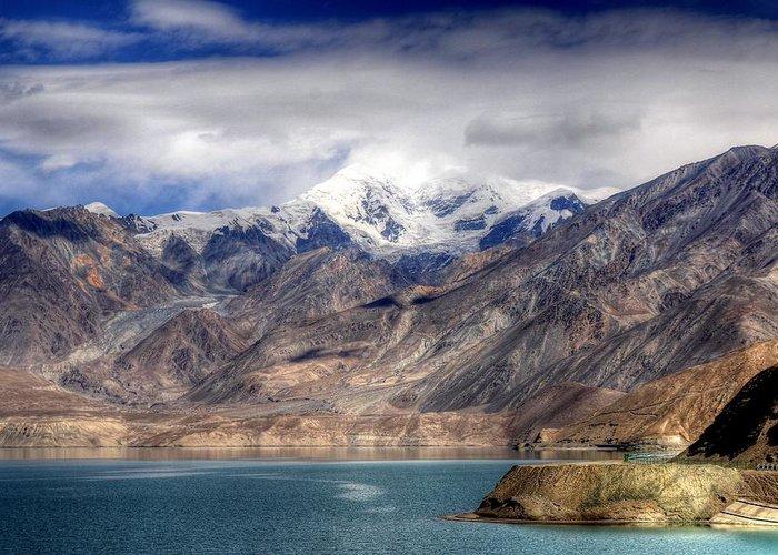 Xinjiang Province China Greeting Card featuring the photograph Xinjiang Province China by Paul James Bannerman