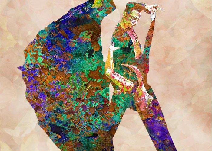 Dance Greeting Card featuring the digital art Dance by Elena Kosvincheva