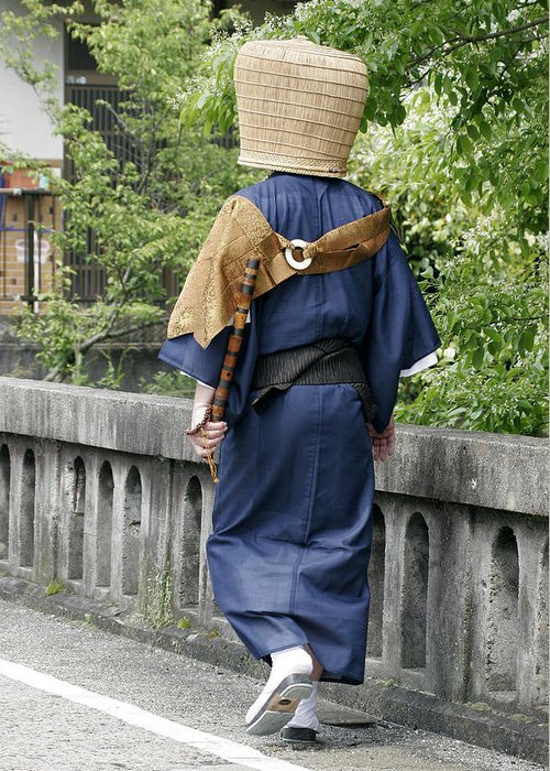 Komuso Greeting Card featuring the photograph Komuso by Masami Iida