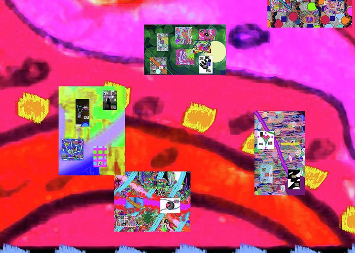 Walter Paul Bebirian Greeting Card featuring the digital art 9-11-2015abcdefghijklmnopqrtuvwxyzabcde by Walter Paul Bebirian