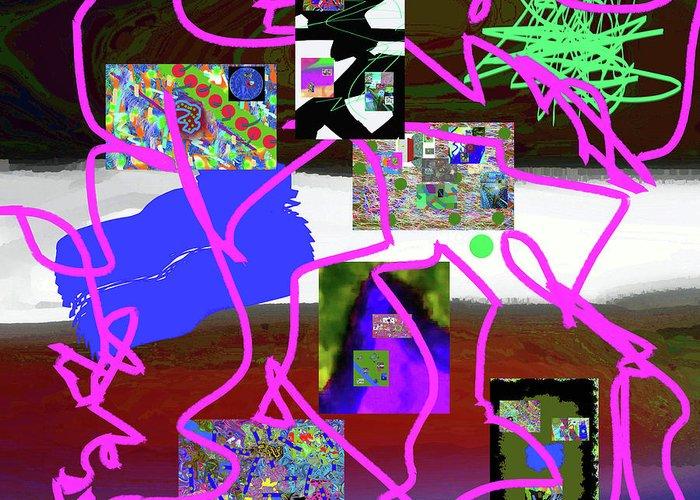 Walter Paul Bebirian Greeting Card featuring the digital art 9-18-2015babcdefghi by Walter Paul Bebirian