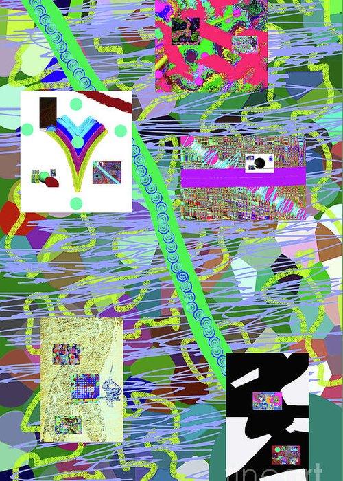 Walter Paul Bebirian Greeting Card featuring the digital art 9-6-2015cabcdefg by Walter Paul Bebirian