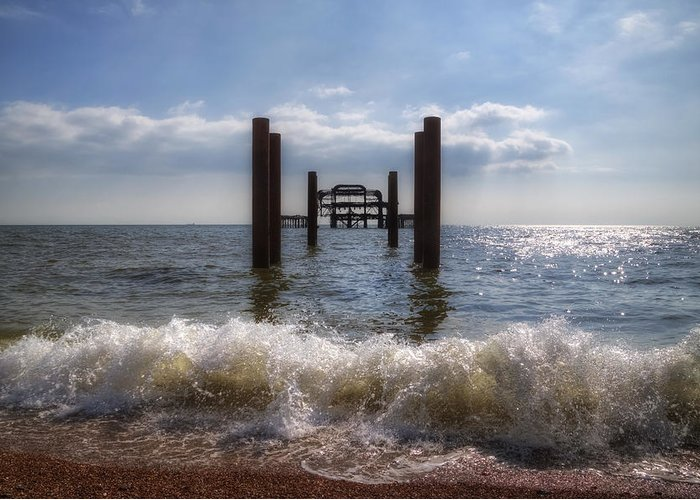West Pier Greeting Card featuring the photograph Brighton by Joana Kruse