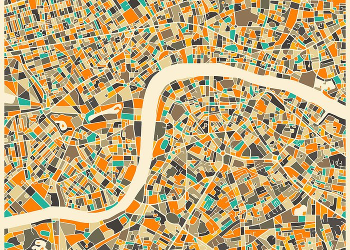 London Map Greeting Cards