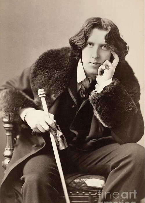 1882 Greeting Card featuring the photograph Oscar Wilde (1854-1900) by Granger