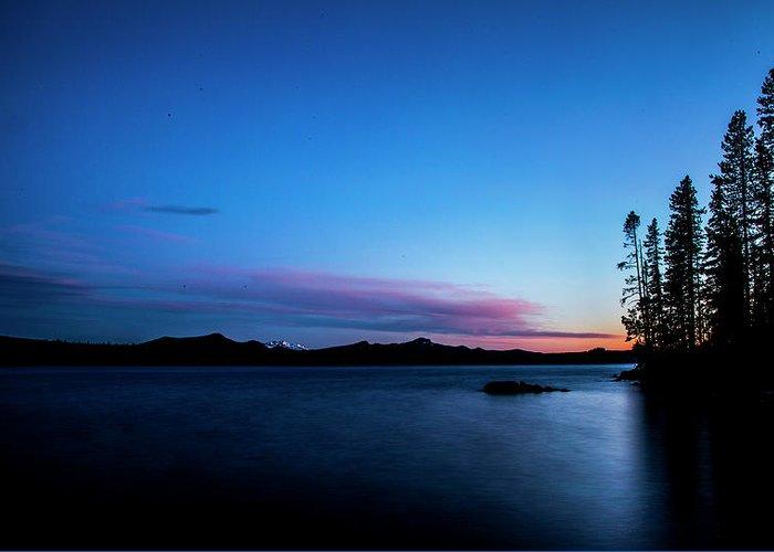 Greeting Card featuring the photograph Waldo Lake by Angus Hooper Iii