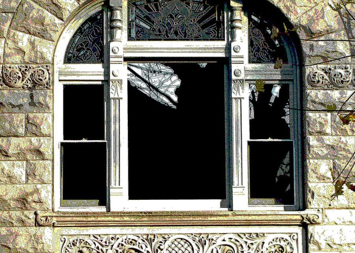 Windows Greeting Card featuring the photograph Window Series by Ginger Geftakys