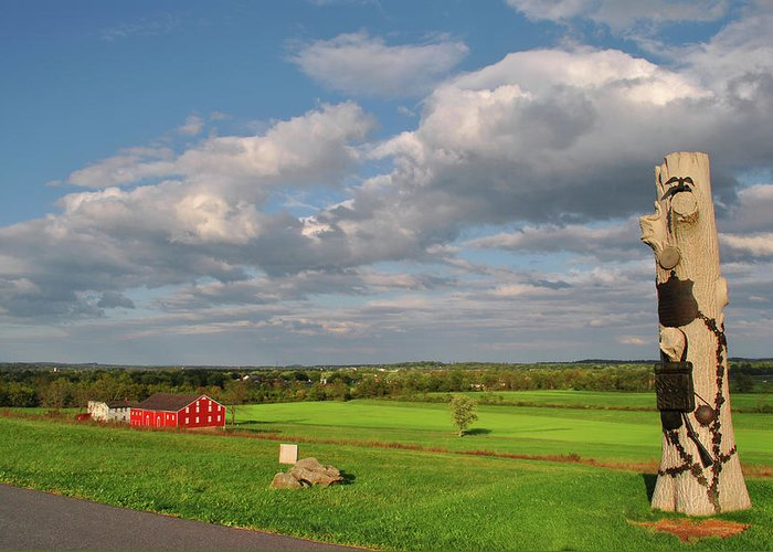 Gettysburg Greeting Card featuring the photograph 90th Pennsylvania by Jen Goellnitz