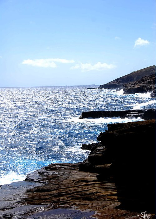 Seascape Greeting Card featuring the photograph Hawaii by Thea Wolff