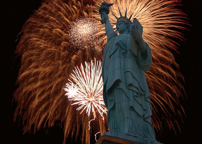 Statue Of Liberty Greeting Card featuring the photograph 95 by Peter Holme III