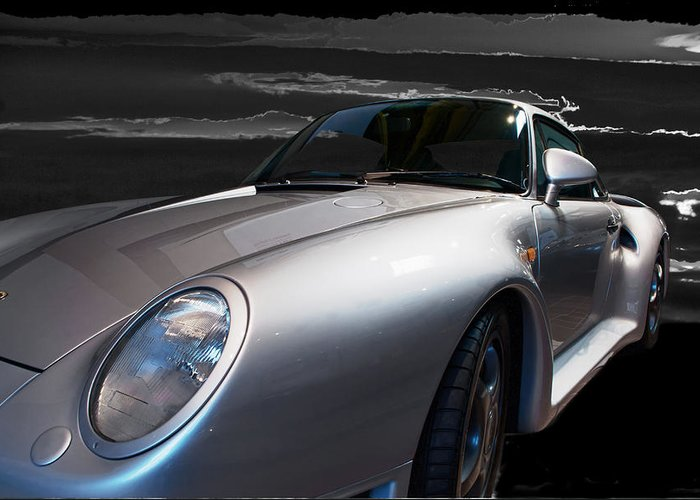 This 1987 Porsche 959 Wes The Super Car Of The 1980's Greeting Card featuring the photograph 959 Porsche by Paul Barkevich