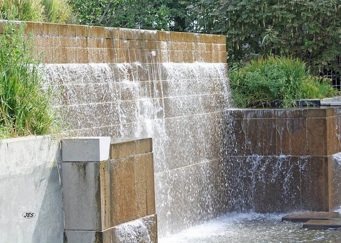 Fountain Greeting Card featuring the photograph 9750 by Jim Simms