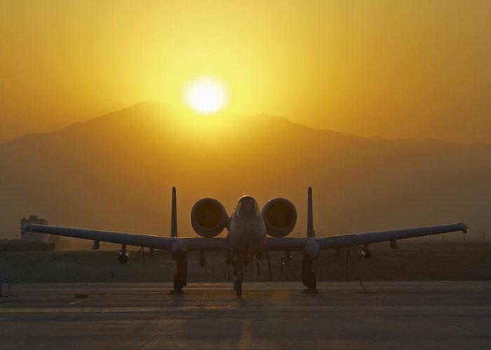 A-10 Greeting Card featuring the photograph A-10 Warthog by Tim Grams