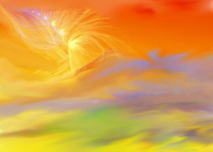 Fine Art Greeting Card featuring the digital art A Band Of Angels Coming After Me by David Lane