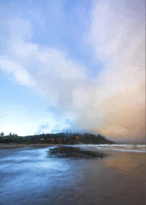Art Greeting Card featuring the digital art A Beach Like This II by Jon Glaser