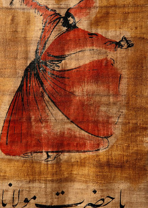 Istanbul Greeting Card featuring the photograph A Beautiful Painting Of A Whirling by Gianluca Colla